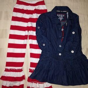 TWO Piece Set Guess Dress 3T & Pants 3T ARB Banks